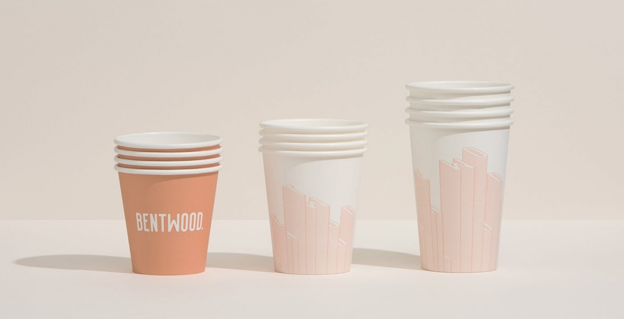 bentwood cafe graphic design branding typography interior print stationery mindsparkle mag