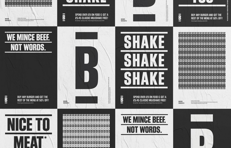burger branding graphic design art direction brand identity stationery print mindsparkle mag