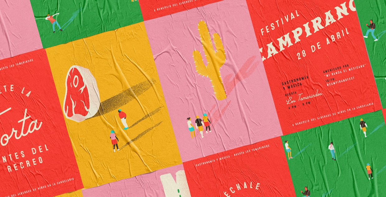 campirano festival branding art direction graphic design stationery print promotional posters identity mindsparkle mag