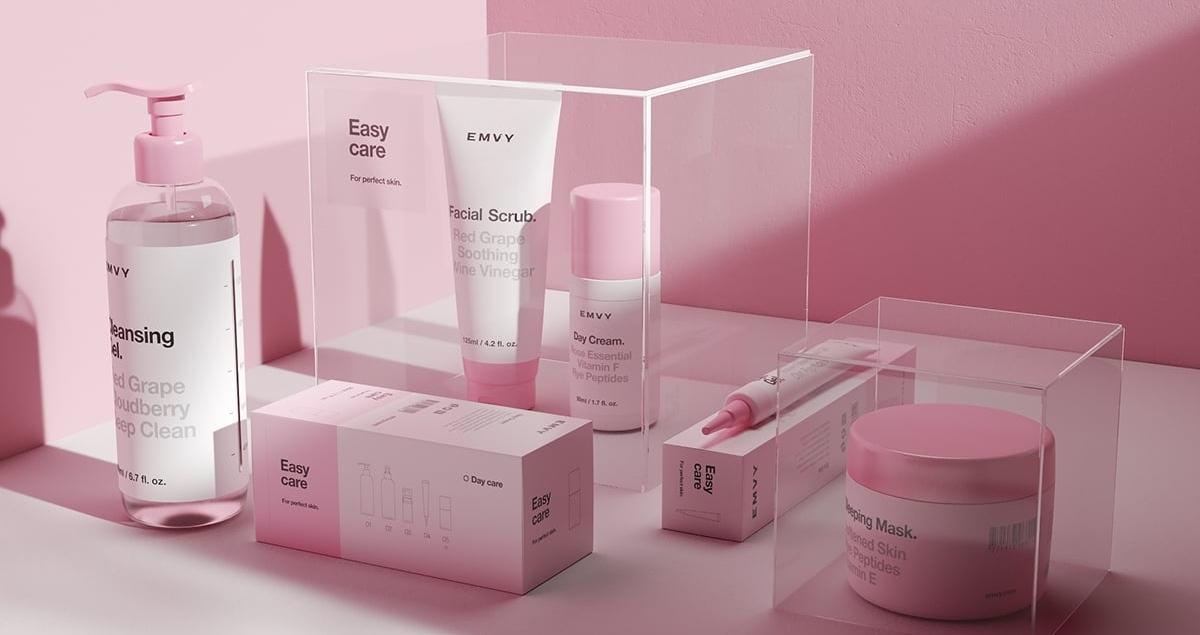 emvy cosmetics graphic design product branding identity mindsparkle mag