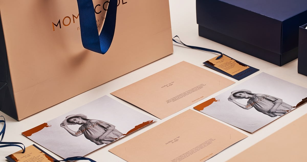 mom n cool branding packaging print design graphic stationery editorial brand identity mindsparkle mag