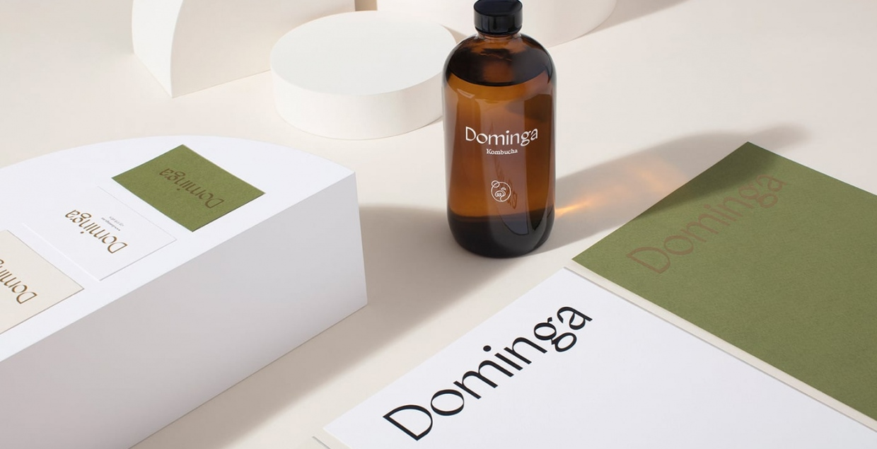 dominga kombucha tea packaging brand identity art direction branding illustration mindsparkle mag