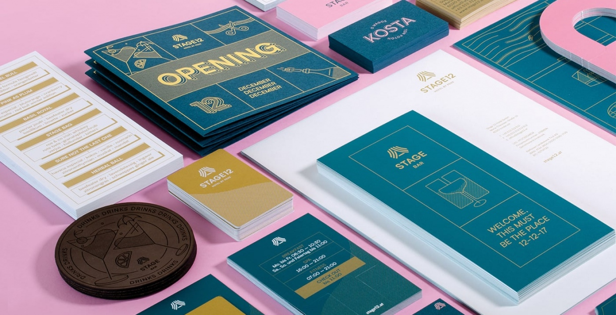 stage 12 hotel branding graphic design illustration brand identity graphic design stationery print mindsparkle mag