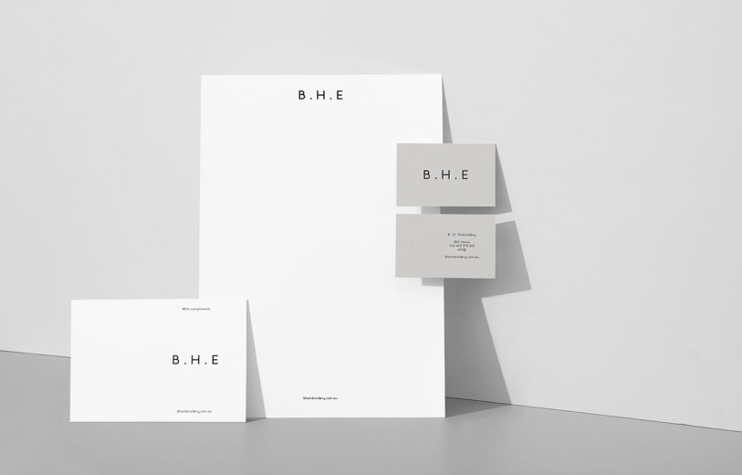 bh embroidery branding brand identity art direction graphic design visual print stationery mindsparkle mag