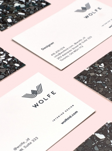 wolfe identity design stationery business card print graphic visual brand branding art direction mindsparkle mag