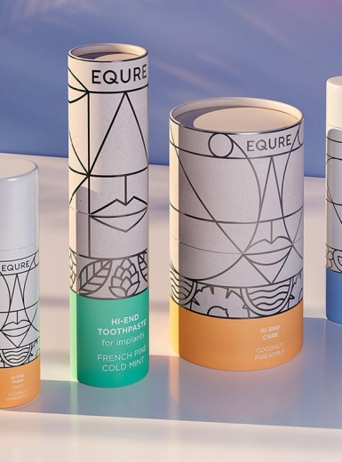 equre packaging art direction graphic design print package label mindsparkle mag