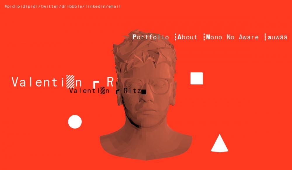 web design digital website modern inspiration beautiful project mindsparklemag siteoftheday sotd award valentin ritz portfolio