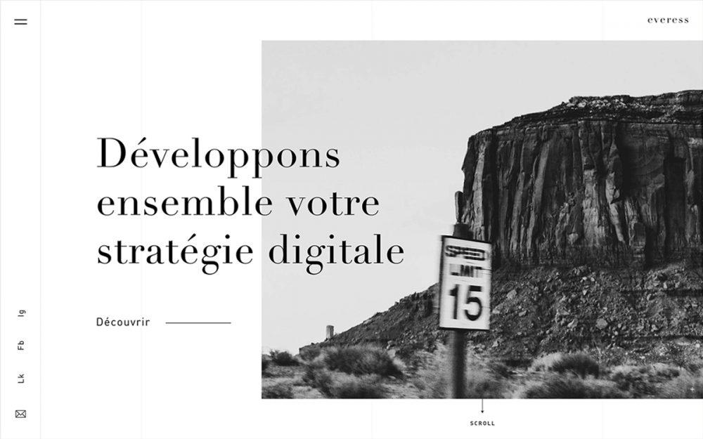 web design digital website modern inspiration beautiful project mindsparklemag siteoftheday sotd award Everess