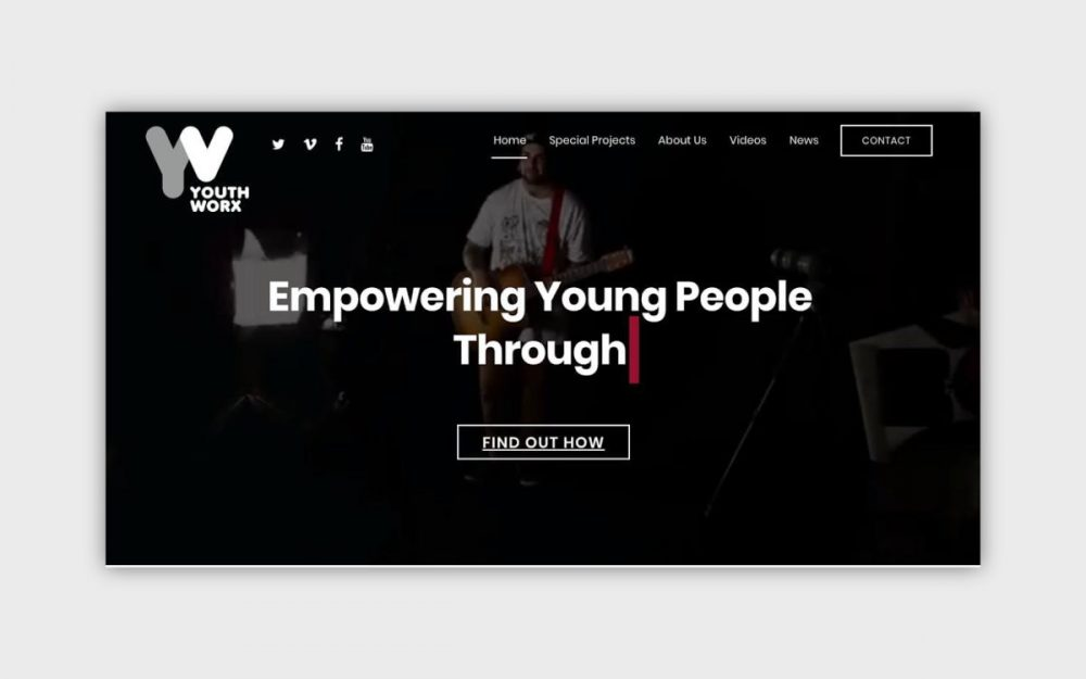 web design digital website modern inspiration beautiful project mindsparklemag siteoftheday sotd award YouthWorx Productions GWC 3rd2016