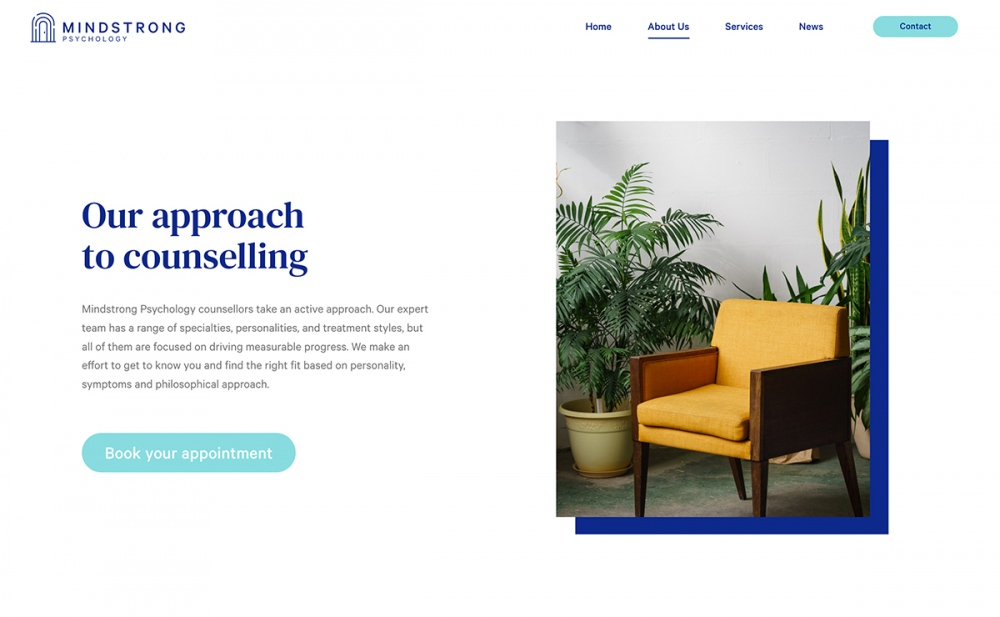 web design digital website modern inspiration beautiful project mindsparklemag siteoftheday sotd award Mindstrong Psychology Brittany Gerow