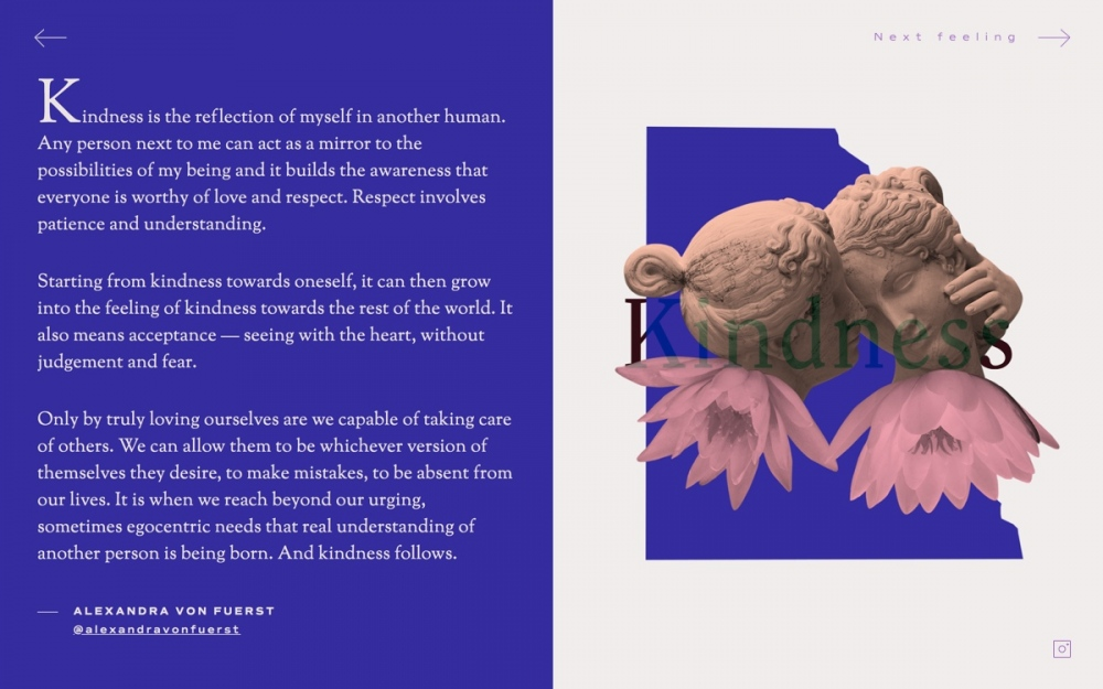 web design digital website modern inspiration beautiful project mindsparklemag siteoftheday sotd award dictionary of female feelings Unwind Studio