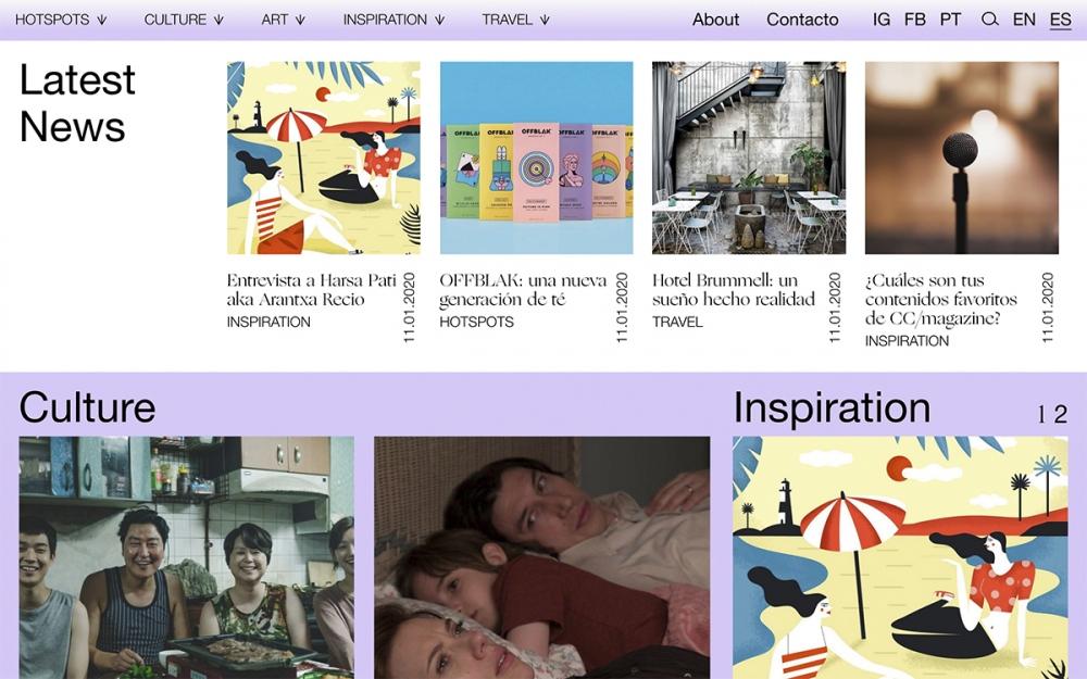 web design digital website modern inspiration beautiful project mindsparklemag siteoftheday sotd award CC Magazine