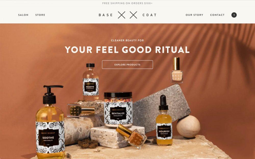 web design digital website modern inspiration beautiful project mindsparklemag siteoftheday sotd award Base Coat Nail Salon Consume & Create