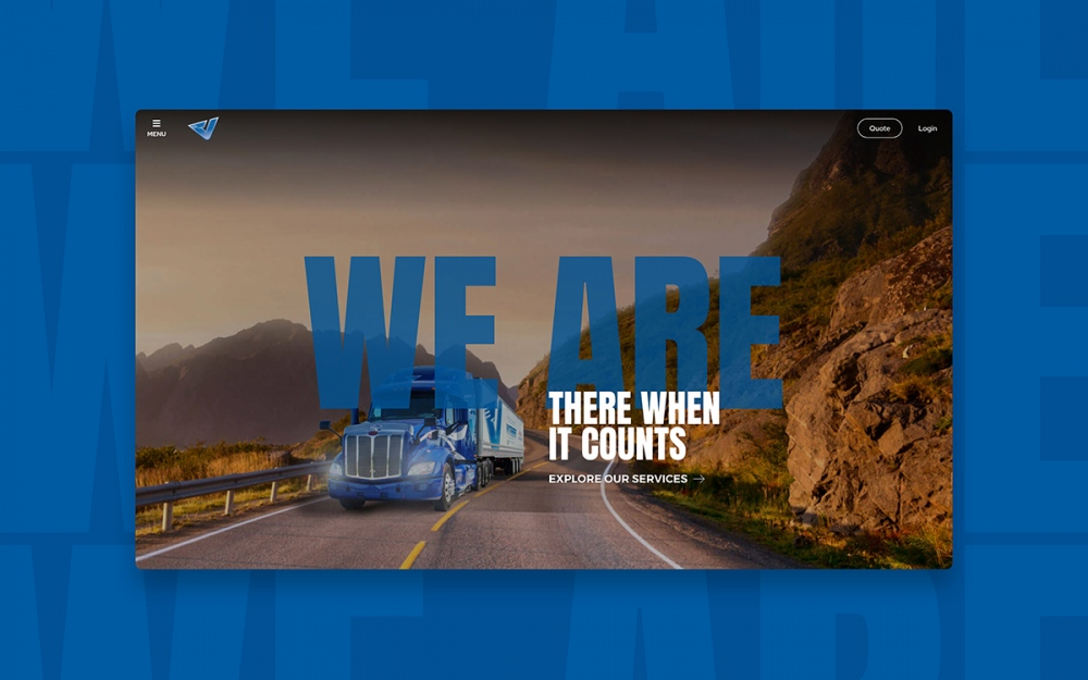 web design digital website modern inspiration beautiful project mindsparklemag siteoftheday sotd award Vitesse Transport