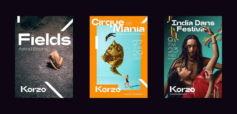 korzo theater visual identity branding design identity graphic blog project mindsparkle mag beautiful portfolio