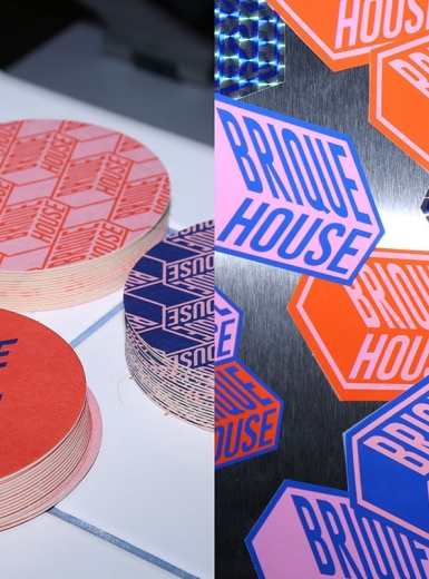 Brique House visual identity branding design identity graphic blog project mindsparkle mag beautiful portfolio
