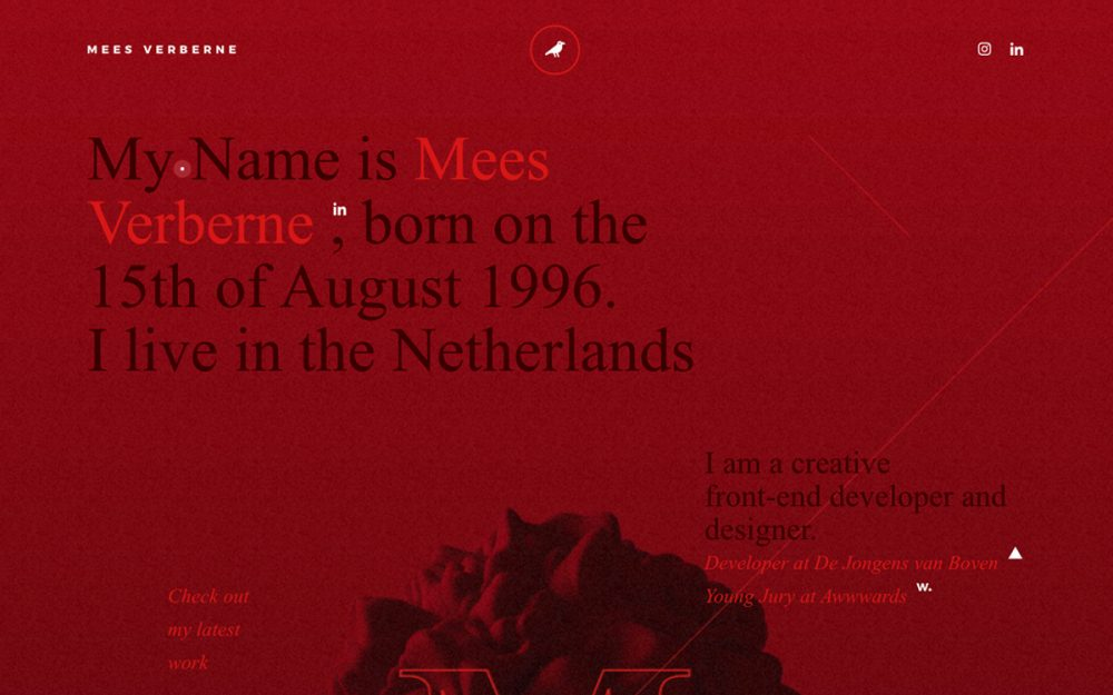 web design digital website modern inspiration beautiful project mindsparklemag new site Mees Verberne - Developer