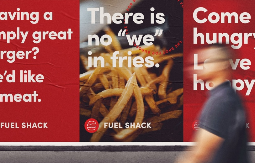 Fuel Shack Rebranding design identity graphic blog project mindsparkle mag beautiful portfolio