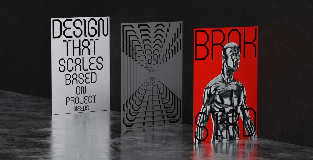 BROKSTAD design identity graphic blog project mindsparkle mag beautiful portfolio
