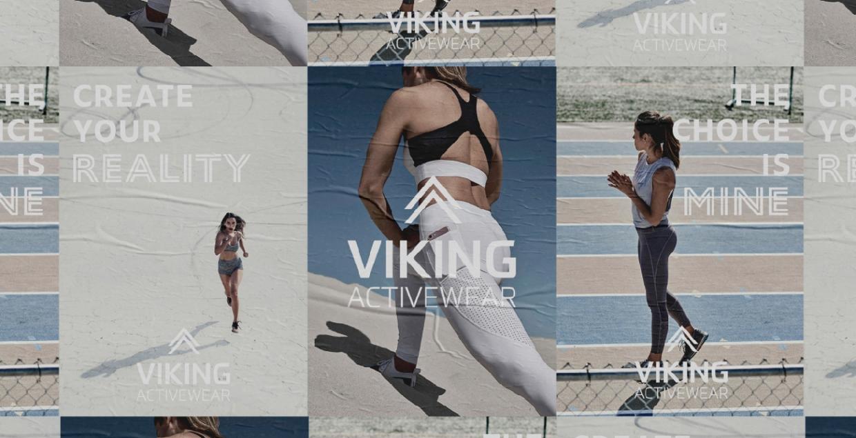 Viking Activewear design identity graphic blog project mindsparkle mag beautiful portfolio