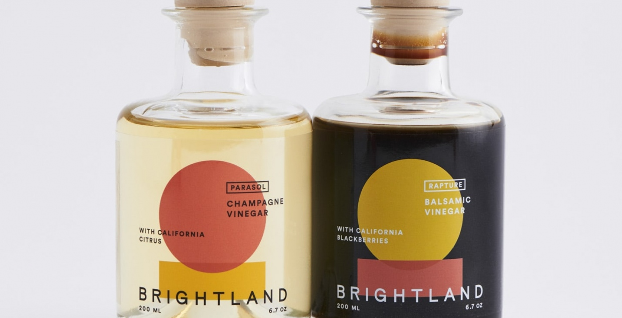 Brightland identity packaging design graphic blog project mindsparkle mag beautiful portfolio