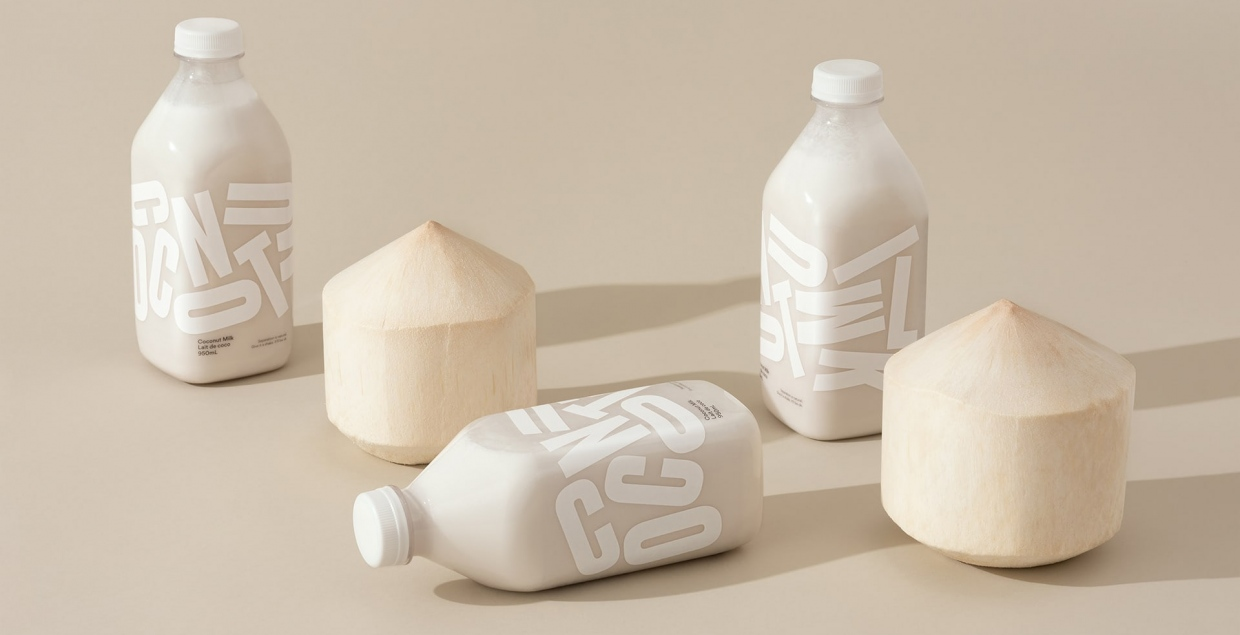 Coconut Milk identity packaging design graphic blog project mindsparkle mag beautiful portfolio