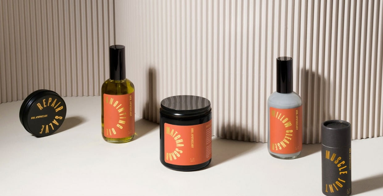 Urb Apothecary identity packaging design graphic blog project mindsparkle mag beautiful portfolio