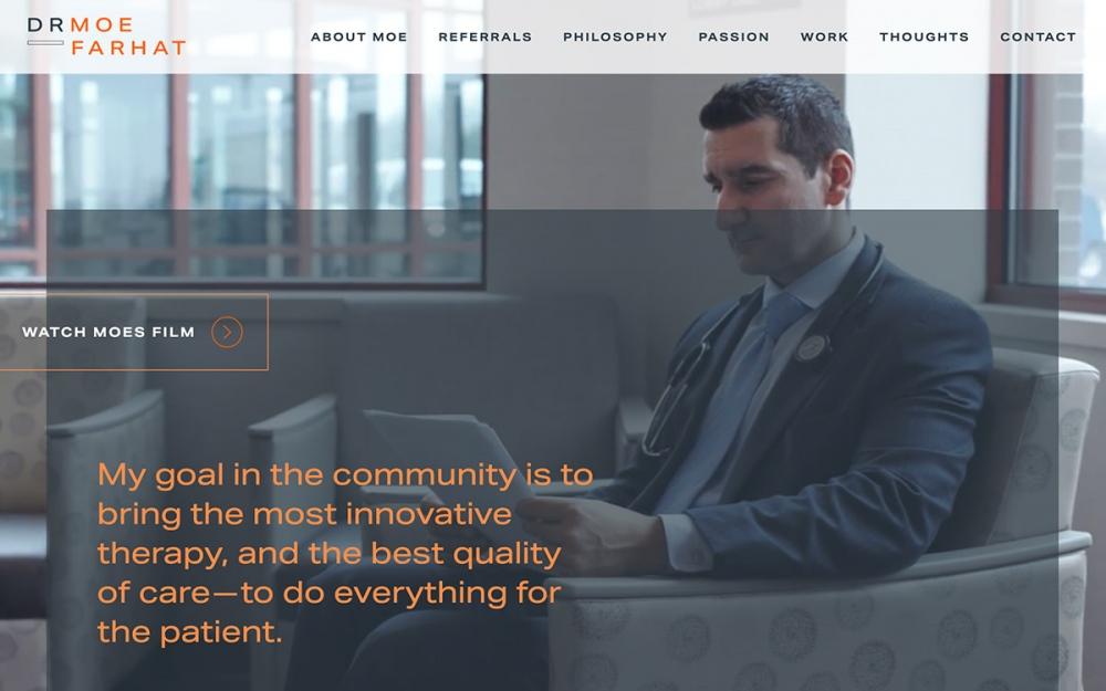 web design digital website modern inspiration beautiful project mindsparklemag sotd Doctor Moe Farhat