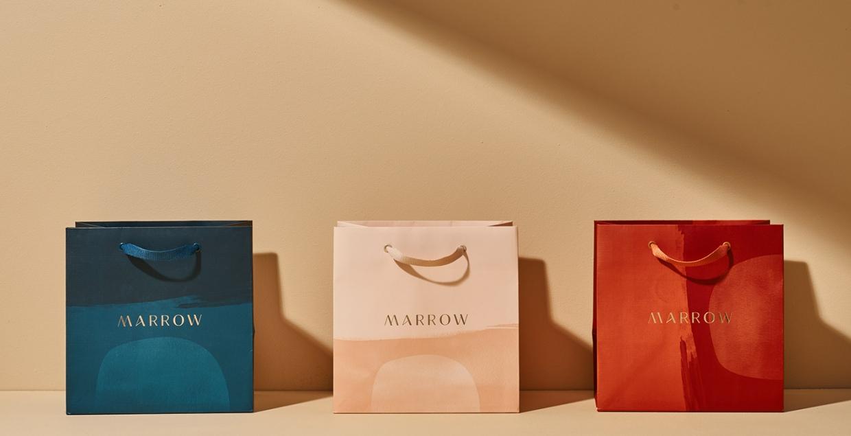 Marrow branding logo identity design graphic blog project mindsparkle mag beautiful portfolio
