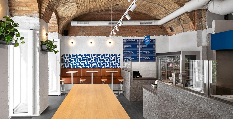 Blue Agori Food Bar branding logo identity design graphic blog project mindsparkle mag beautiful portfolio