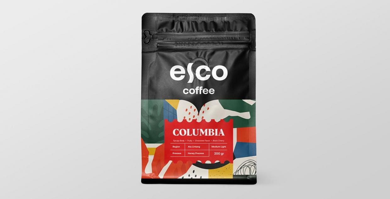 Esco Coffee logo identity design graphic blog project mindsparkle mag beautiful portfolio