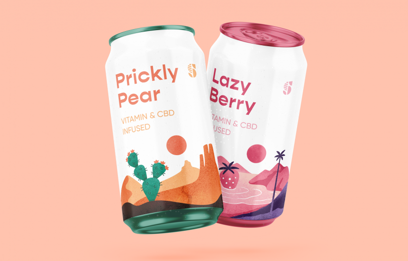 Vitamin & CBD Infused Beverage Identity branding logo identity design graphic blog project mindsparkle mag beautiful portfolio