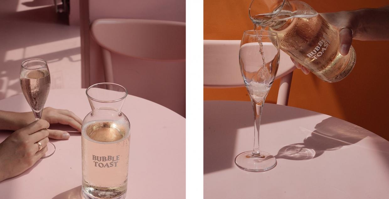 bubble toast logo identity design graphic blog project mindsparkle mag beautiful portfolio