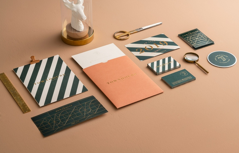 townhouse branding logo identity design graphic blog project mindsparkle mag beautiful portfolio