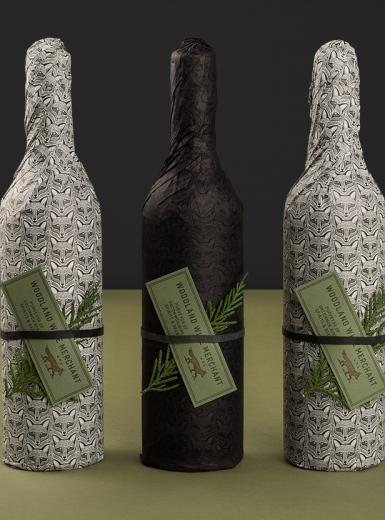 Woodland Wine Merchant graphic identity logo design graphic blog project mindsparkle mag beautiful portfolio