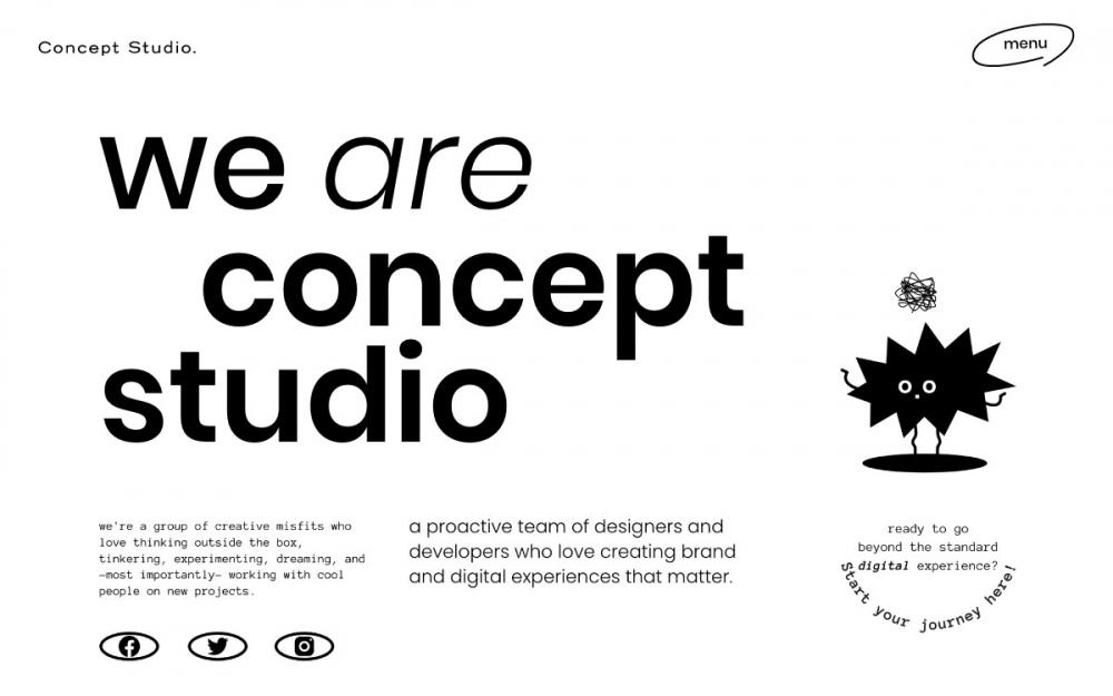 web design digital website modern inspiration beautiful project mindsparklemag newsite concept studio