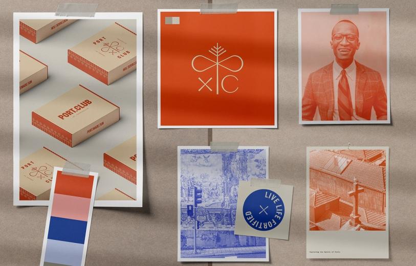 Port Club design logo design graphic blog project mindsparkle mag beautiful portfolio