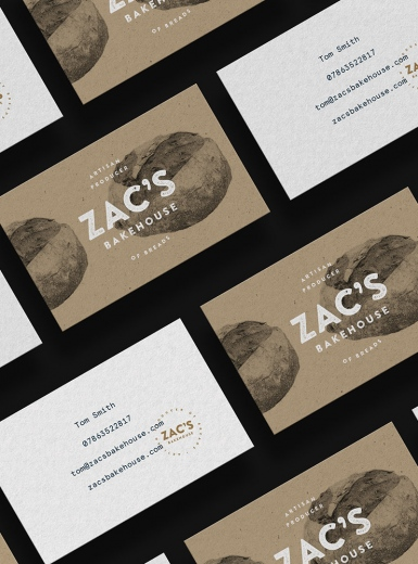 Zac's Bakehouse design logo design graphic blog project mindsparkle mag beautiful portfolio