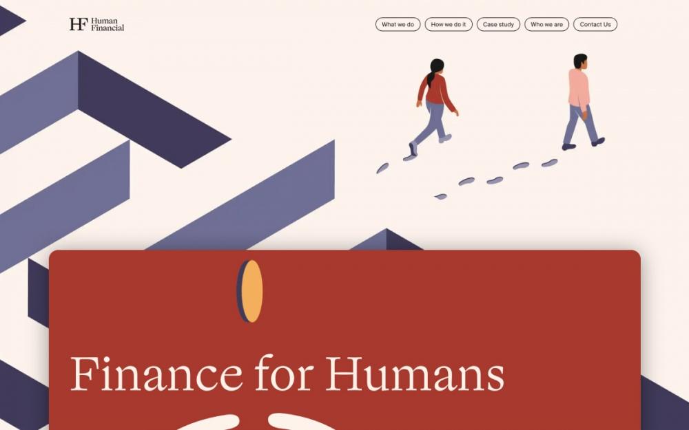 web design digital website modern inspiration beautiful project mindsparklemag sotd Human Finance
