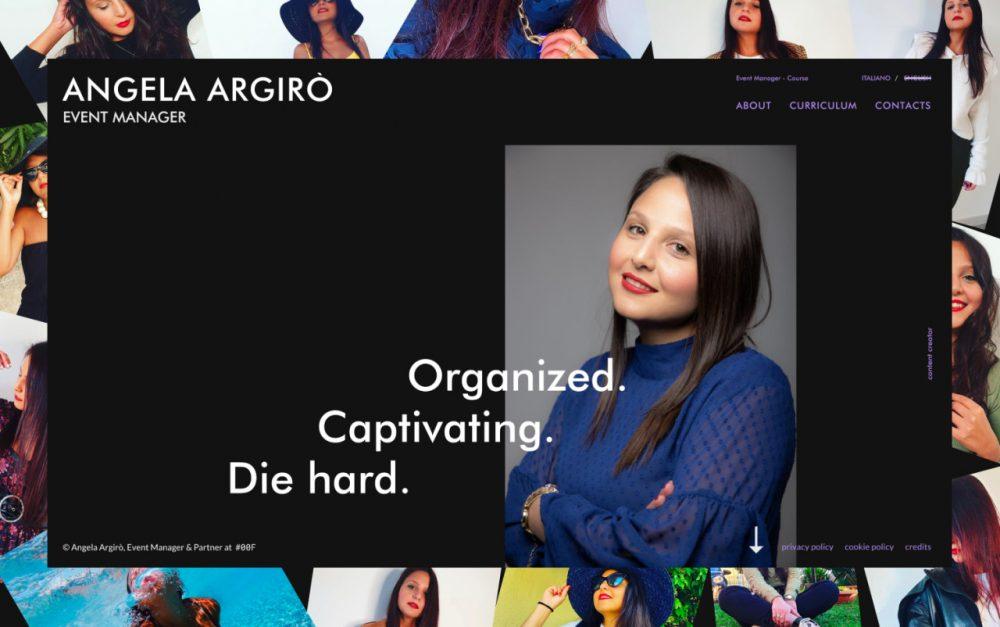 web design digital website modern inspiration beautiful project mindsparklemag sotd Angela Argirò — Event Manager