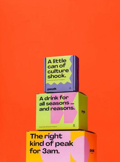 Peak Social Tonics Porter Packaging identity branding logo design graphic blog project mindsparkle mag beautiful portfolio