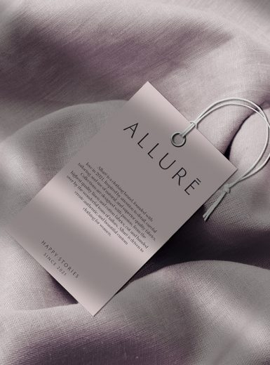 Allure branding clothing brand identity pastel soft fabrics visual business tailor mindsparklemag