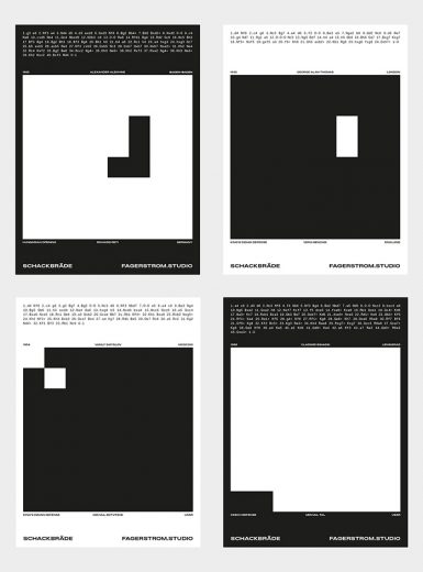 Chess poster collection design graphic Sweden projection art movement balance minimalist mindsparklemag