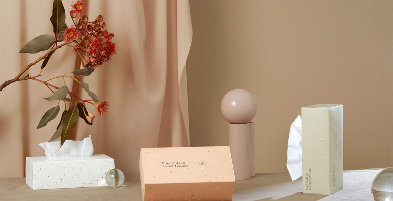 Cottonly skincare Australia clean routine texture pastel soft warm identity branding mindsparklemag