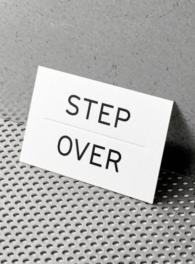 Step over retail experience designer exclusive neon transparency logo branding mindsparklemag