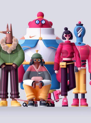 Spring, illustration, 3D, 3Dcharacters, design, colorful, pastel, adorable, cute, nice, nature, animals, jungle, Mindsparkle Mag