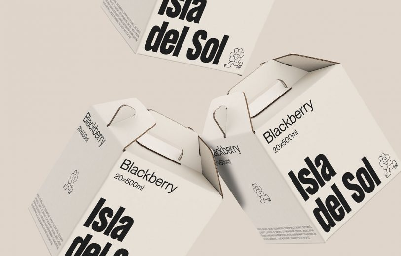 Isla del sol, brand, branding, visual, identity, packaging, beer, brewery, logo, illustration, neon colors, graphic, design, mindsparkle mag