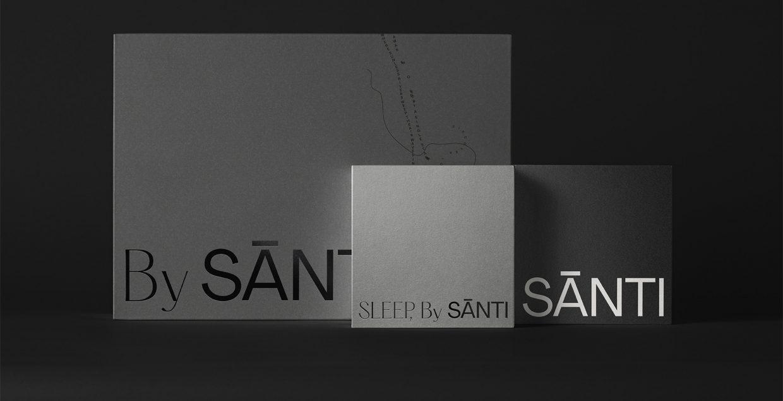 Santi, sleep, brand, branding, visual, identity, stationary, graphic, design, typography, minimal, aesthetic, Mindsparkle Mag