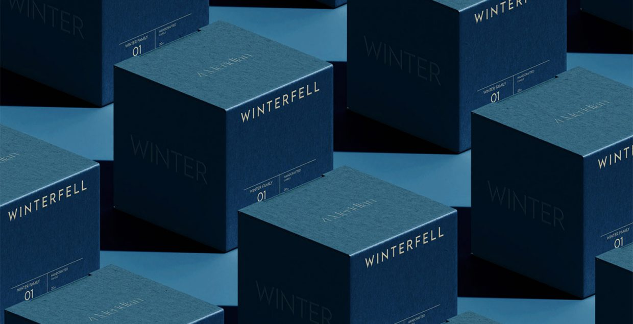 Got, candles, concept, design, branding, hbo, packaging, visual identity, winterfell, scent, label, graphic, Mindsparkle Mag