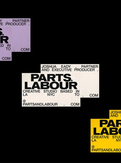 Parts & Labour, Visual Identity, design, typography, logo, print, web, creative, art direction, brand, branding, Mindsparkle Mag